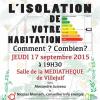 Soirée rencontre : « L'isolation de votre habitation »